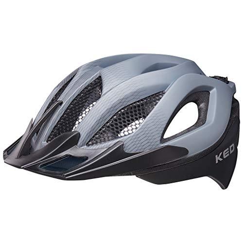 KED Spiri Two M Grey Black matt - 52-58 cm - inkl. RennMaxe Sicherheitsband - Fahrradhelm Skaterhelm MTB BMX Erwachsene Jugendliche