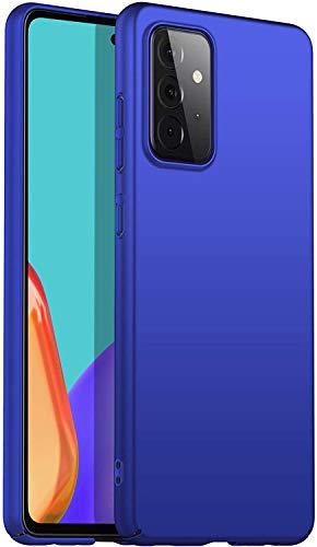 Eabhulie Galaxy A52 5G Funda, Ultra Delgado Ligero Dura Mate PC Caso Anti-rasguño Antideslizante Carcasa para Samsung Galaxy A52 5G / A52 4G Azul