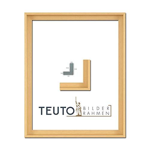 TEUTO BILDERRAHMEN Echtholz Leinwandrahmen Jana Natur 40 x 40 cm ohne Verglasung/Keilrahmen Schattenfuge