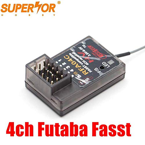 Cooltech RFA04C 4 Channel fasst Compatible Receiver for Futaba 3PK 4PK RC car Model Surface Systems C1 Mode
