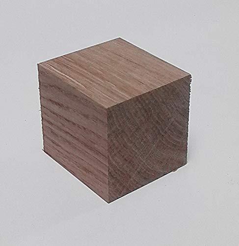 1 Holzwürfel Eiche massiv 60x60x60mm. Kantholz Drechselholz Bastellholz. Sondermaße.