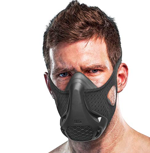 TEC Workout Mask - 16 Training Breathing Levels, Gain Benefits of High Altitude Elevation Training for Running, Biking, Cardio, Sports; Increases Strength, Endurance, Stamina [+ Free Bonus Carry Case]
