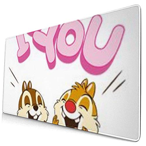 Alfombrilla de Ratón Grande Chip 'N' Dale Pop-Up Te Amo Gaming Mouse Pad XXL Superficie Suave y Impermeable con Base de Goma Antideslizante 800X300X3 mm