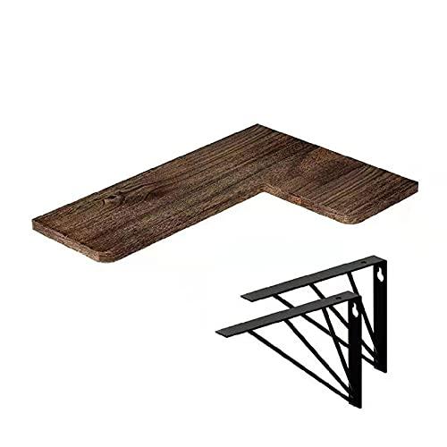 Racks de almacenamiento de pared, bastidores de madera suspendidos simples, esquinas, sala de estar, bastidores de madera, tablas planas, baños, corredores, cocinas,