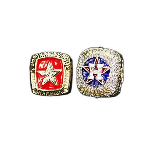 Fei Fei 2005 2017 MLB Houston Astros Champion Ring Set Anillos de Hombre, Championship Anillo de réplica Personalizado Anillos de Diamantes para Hombres,Without Box,11#