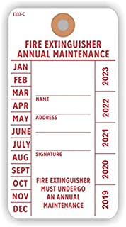 FIRE Extinguisher Annual Maintenance Tag, 5.75