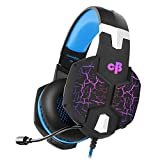Cosmic Byte G1500 7.1 Channel USB Headset for PC with RGB LED Lights and Vibration (Black/Blue)