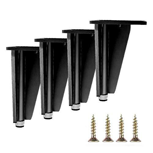 GYF Patas De Muebles Ajustables, Patas del Gabinete De Aluminio De 4 Piezas Fácil De Instalar para Sofá, Cama, Armario, Negro (Size : 150mm)