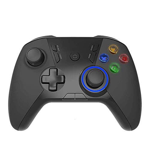ZOUJIARUI PC Gamepad, Controlador de Juegos inalámbrico Bluetooth, PC Video Gamepad Joystick con Doble vibración y remapa