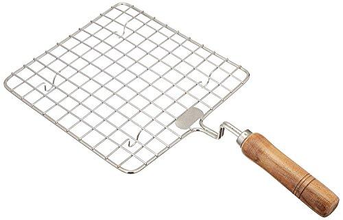Wooden Sqaure Roasting Net,Stainless Steel Wire Roaster,Wooden Handle Round with Roasting Net,Roasting Net,Square Roasting Net,Papad Jali,Roti Jali,Roaster