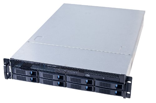 Chenbro RM236 2HE Server Gehäuse RM23608 Low Profil mit 8 Port miniSAS 12G Backplane