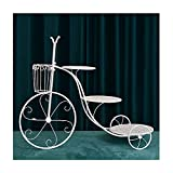 Jian E Estante De Pastel De Hierro Forjado Creativo De 3 Capas Estante De Flores De Bicicleta Bandeja De Fiesta En Capas, Soporte De Exhibición De Postre De Fiesta De Bodas De Cumpleaños