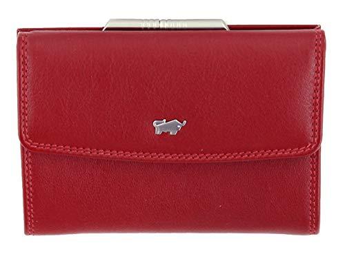 BRAUN BÜFFEL Damen Bügelbörse Golf 2.0 - aus echtem Leder (rot, 8 Fächer)
