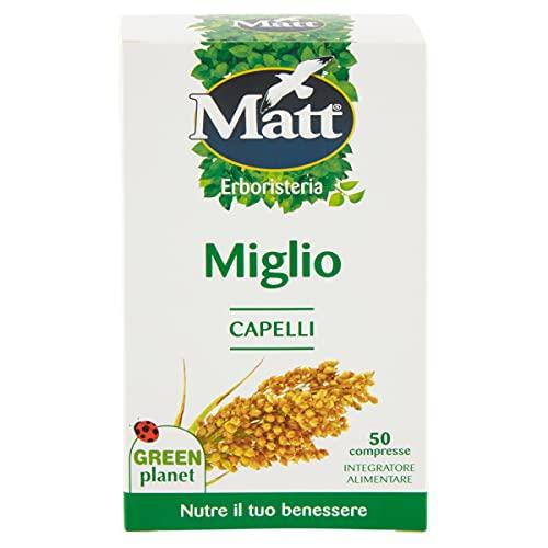 Matt Integratore Miglio, Integratore Alimentare per Il Benessere di Capelli e Unghie, 50 Compresse