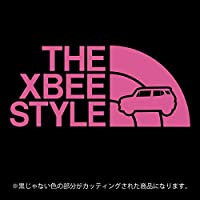 クロスビー ステッカー THE XBEE STYLE【カッティングシート】パロディ シール(12色から選べます) (ピンク)