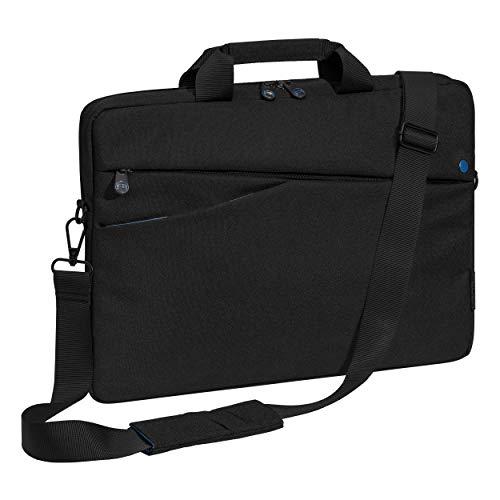 Pedea Laptoptasche Fashion Notebook-Tasche bis 15,6 Zoll (39,6 cm) Umhängetasche mit Schultergurt, schwarz/blau