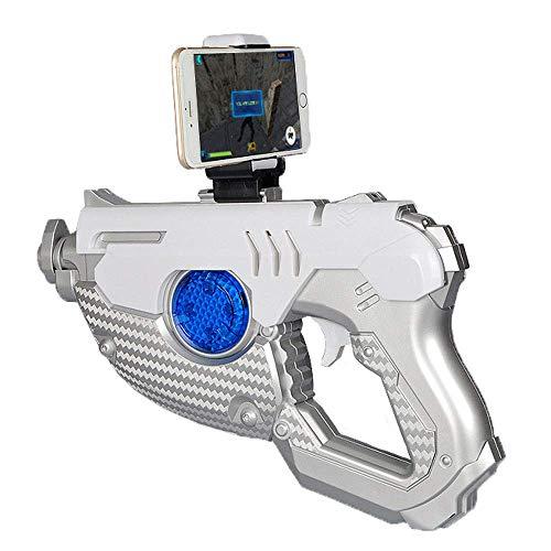 LWPCP Pistola da Gioco AR Smart Pistola somatosensoriale, 4.2 Versione Bluetooth processore a 32 Bit App Compatibile con iOS e sistemi Android,Silver