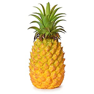 Lvydec Artificial Pineapple, Realistic Artificial Fruit Fake Pineapple for Home Cabinet Table Party Decoration (10.2″)