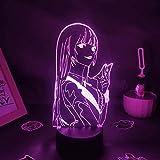 Lampe D'Illusion 3D Led Veilleuse Anime Kakegurui Figure Yumeko Jabami Cadeau D'Anniversaire Pour Enfants Chambre Bureau Décoration