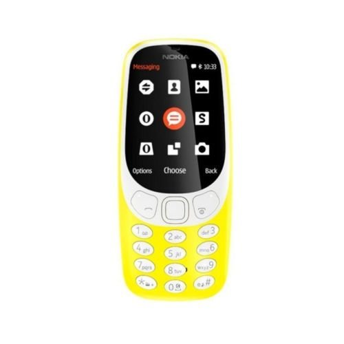 UK Nokia 3310 Dual SIM 2MP Cámara GSM desbloqueado excepto 3. botón grande teléfono KT (amarillo)