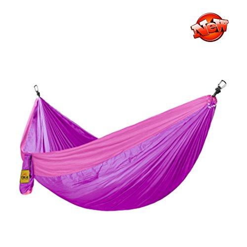 Hamacs Camping en Plein air Portant Poids Jardin et Patio (Color : Purple, Size : 280 * 180cm)