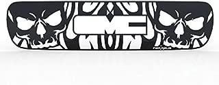 Ferreus Industries Grille Insert Guard Skull Flame Black Powdercoat fits: 2000-2006 GMC Yukon TRK-130-10-Black-b