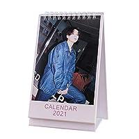 防弾少年団 カレンダー b-T-s 卓上 カレンダー 2021年 デスクカレンダ かわいい 人格カレンダー 小道具 オフィス用品 文房具 韓流 応援グッズ-JK