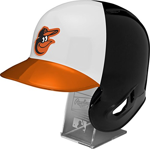 MLB Washington Nationals Replica Batting Helmet with Engraved Stand, Official Size, Red