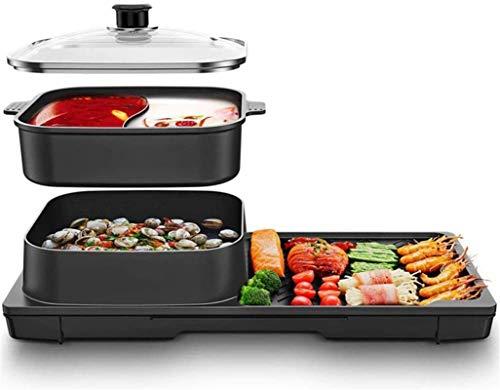 Parrilla eléctrica portátil, Parrilla doméstica antiadherente, calefacción, calefacción, con comidas de bajo...