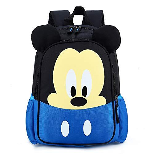 Children'S School Bag Nylon Material Breathable Waterproof Cartoon Backpack Kindergarten Backpack Cute Baby Backpack Unisex Mickey Mouse Backpack