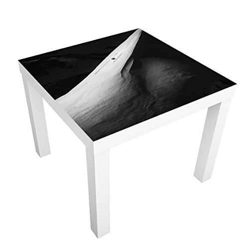 Bilderwelten Table Basse Design - Downhill Skiing - 55x55x45cm, Couleur de la Table: Table de Noir, Dimension: 55 x 55 x 45cm