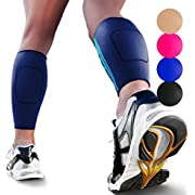 Calf Compression Sleeves by SPARTHOS (Pair) – Immediate Shin Splint & Calf Pain Relief – Leg Compression Socks for Men and Women – Made from Innovative Breathable Elastic Blend