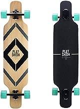 Playshion 39 Inch Drop Through Freestyle Longboard Skateboard Cruiser Black