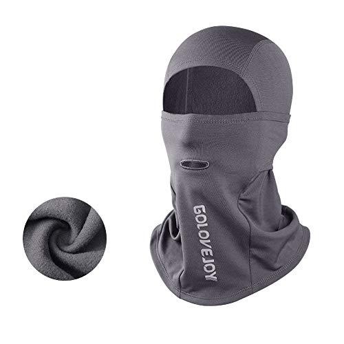 ZYBC Sturmhaube Winddichte Skimaske Gesichtsmaske Für Kaltes Wetter wasserdichte Thermovlies Vollschutzmaske Für Das Motorrad-Skifahren Snowboard Radfahren (GRA)