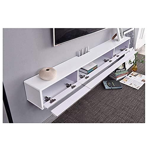 PPOIU Consola de TV Flotante Consola Multimedia montada en la Pared Soporte de TV de Pared Estante Gabinete de Almacenamiento Gabinete de TV Colgante Consolas de Juegos Estante de almace