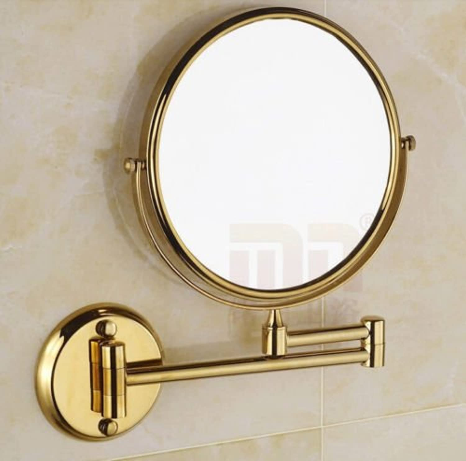 Makeup Mirror,Bathroom gold Finish 3X Magnifying Dual Sides Wall Mounted