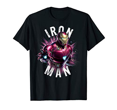 Marvel Avengers Endgame Iron Man Space Poster Graphic Tee