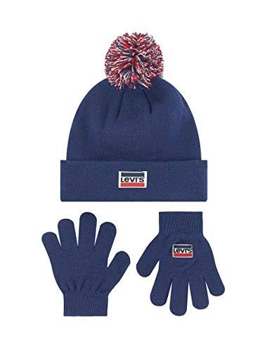 Levi Set Mütze und Handschuhe 8A8355-U09-DRESS Blues- Child, Unisex