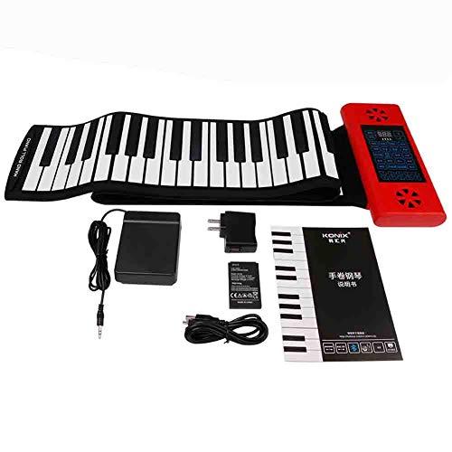 LJRlf Silicona Portátil 88 Teclas Rollo Up De Mano Piano Piano...