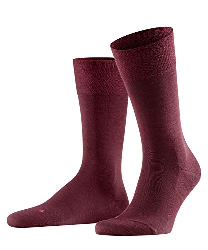 FALKE Herren Sensitive Berlin M SO Socken, Blickdicht, Rot (Barolo 8596), 43-46