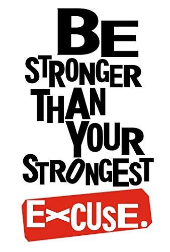 Ser más fuerte que su más fuerte excusa–Guantes de boxeo MMA, Boxeo, Entrenamiento Fitness Fit de gimnasio Motivación Vida Amor Casa juntos Cita Pared Calcomanías de vinilo pegatinas Art Decor DIY