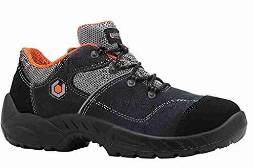 Base Protection, GARIBALDI Calzado de Seguridad para Hombres y Mujeres, Azul y Naranja, Talla 42