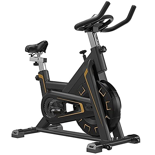 SKYWPOJU Bicicleta estática, Bicicleta Fitness, Entrenador en casa, con Manillar Ajustable, Asiento y Resistencia, Pedales con cesto para pies - Peso de Apoyo 150 kg (Color : Red)
