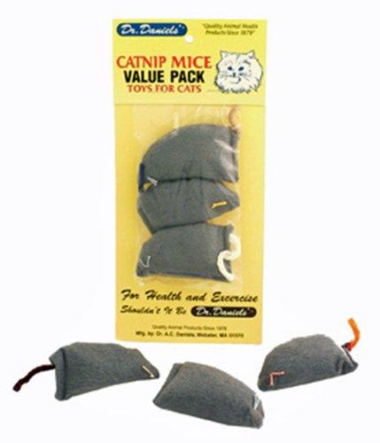 Dr. A.C. Daniels 3 Count Catnip Mouse Pet Toy