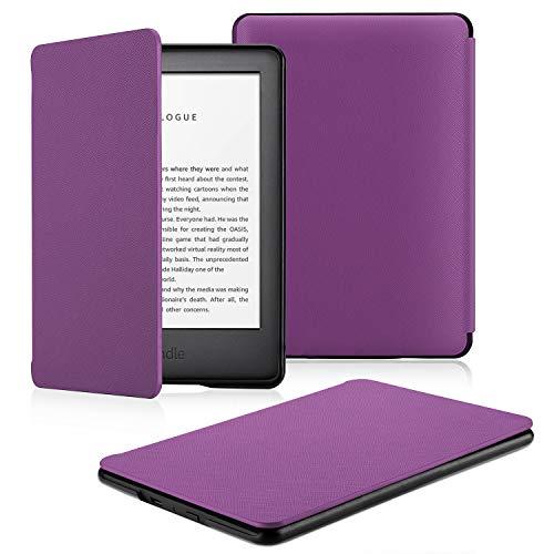 OMOTON Funda Nuevo Kindle 2019 Carcasa Nuevo Kindle 2019 Funda, PU, Sueño Automático, Cierre Magnético, Color Violeta, Solo para All-New Kindle, 2019 Released