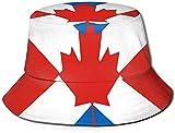 Sombrero unisex con bandera de Escocia y bandera de Canadá