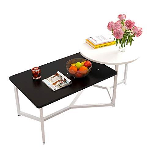 Table à thé Petite Table Basse Salon Simple Petite Table à côté du canapé Table à thé Mobile Petite Table à Balcon (Couleur : B)