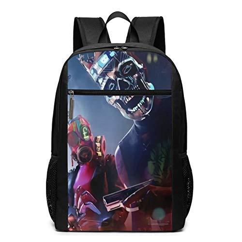 Yoohome Wat-ch Dogs Le-gion Unisex Rucksäcke Reise Laptop Backpack Rucksack Herren Damen Elegant Schulerucksack für Frauen Manner Schultasche Büchertasche Schultertasche
