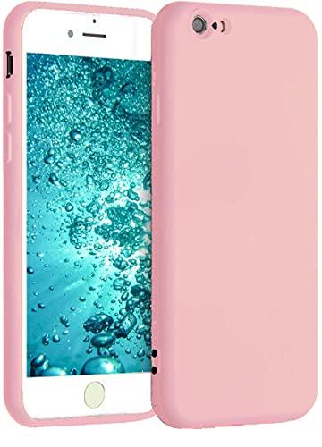 Captor Cover Colorata per iPhone 6 / 6S, Custodia TPU in Silicone Flessibile Morbida con Microfibra, Protezione di Alta qualità con Bordo Rialzato per Schermo e Fotocamera (Rosa)