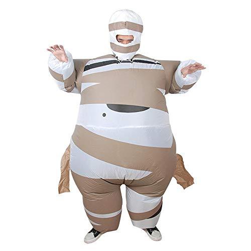 MHSHCQ Opblaasbare mummie kostuum voor volwassenen Fancy opblazen partij halloween jurk kostuum cosplay partij kostuum rekwisieten